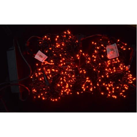 Светодиодная гирлянда Клип Лайт мерцающая 5 нитей по 20м, цвет красный, 24V