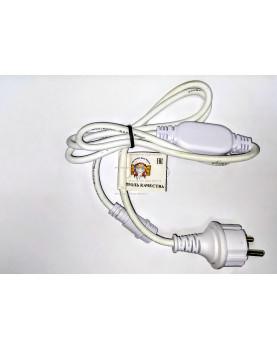 Шнур питания для светодиодной бахромы IP65 цвет белый