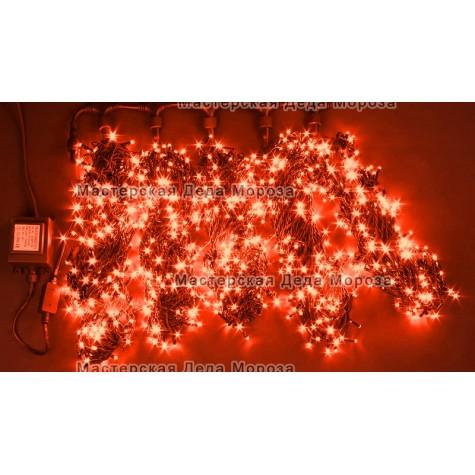 Светодиодная гирлянда Клип Лайт 5 нитей по 20м, цвет красный, 24V