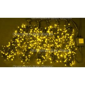 Светодиодная гирлянда Клип Лайт 5 нитей по 20м, цвет желтый, 24V