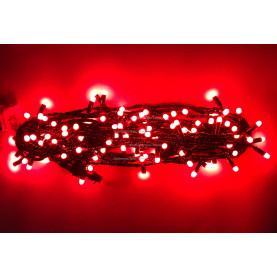 Светодиодная гирлянда с колпачками 10м цвет красный постоянное свечение  IP65
