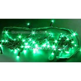 Светодиодная гирлянда Нить 24V длина 10м цвет зеленый