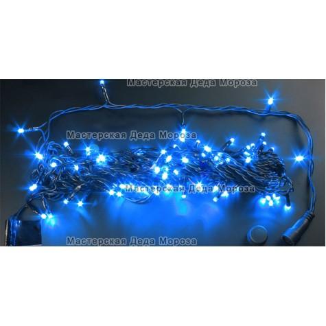 Светодиодная гирлянда Нить 24V длина 10м цвет синий