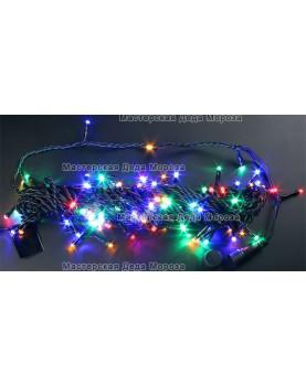 Светодиодная гирлянда Нить 24V длина 10м цвет мульти