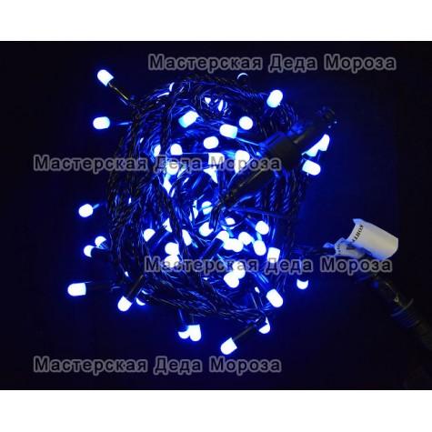 Светодиодная гирлянда с колпачками 10м цвет синий IP65