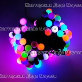 Светодиодная гирлянда Мультишарики d-18мм 5м цвет RGB