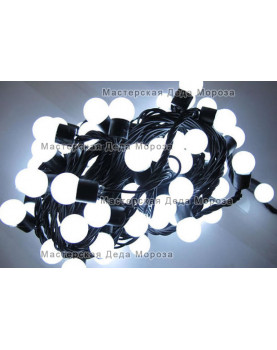 Светодиодная гирлянда Мультишарики d-18мм 10м цвет белый