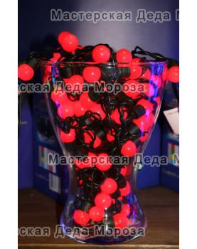 Светодиодная гирлянда Мультишарики d-18мм 10м цвет красный