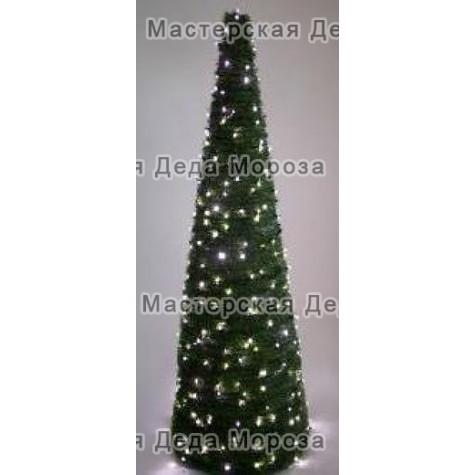 Ель световая Конус цвет зеленый 1,5м - 3м
