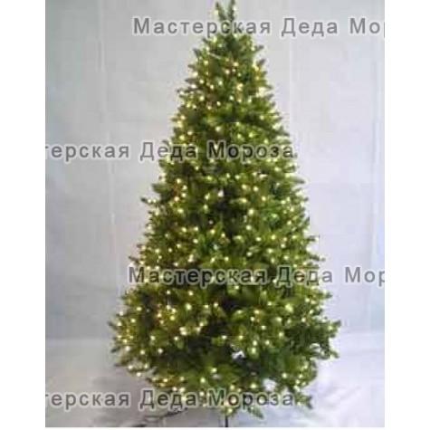 Ель зелёная с гирляндой  (2.1м)