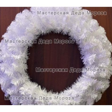 Венок новогодний цвет белый