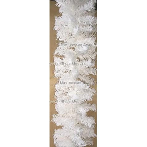Еловая гирлянда d-28см цвет белый длина 2,7м