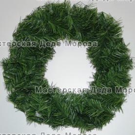 Венок новогодний цвет зелёный