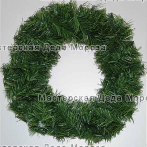 Венок новогодний цветзелёный