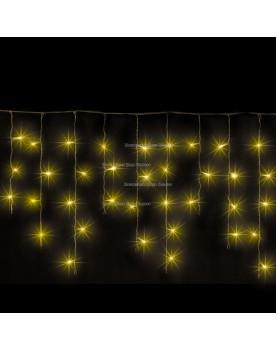 Светодиодная бахрома 3*0.5м цвет желтый ,провод черный, постоянное свечение, IP54
