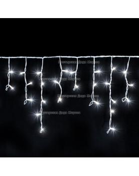 Светодиодная бахрома 3*0.5м цвет белый, провод прозрачный, постоянное свечение, IP44