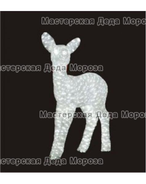 Световая Акриловая Фигура Семья Оленей  цвет белый