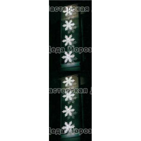 Светодиодная фигура 4 Снежинки LED с контроллером