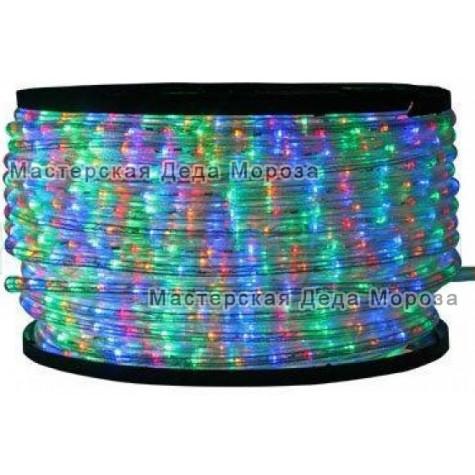 Дюралайт LED 13мм 100 м цвет мульти