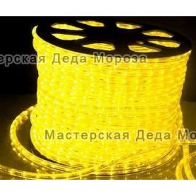 Дюралайт LED 10,5мм  100 м цвет желтый