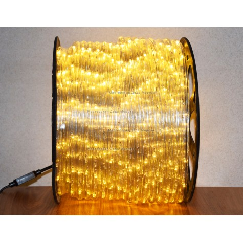 Дюралайт LED 13мм 100 м цвет тёплый белый