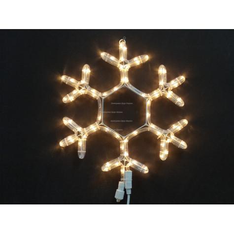 Светодиодная фигура Снежинка 40см цвет теплый белый с мерцанием , IP65