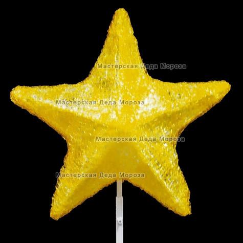 Макушка Звезда 50 см цвет теплый белый