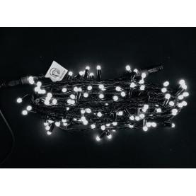 Светодиодная гирлянда с колпачками 10м цвет белый постоянное свечение  IP65