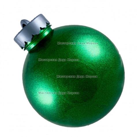 Шар d=15см цвет зеленый  блестящий (1шт/уп)