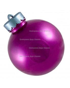 Шар d=15см цвет розовый  блестящий (1шт/уп)