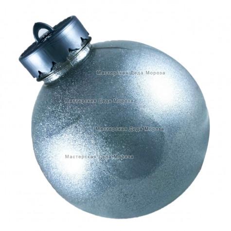 Шар d=15см цвет серебряный блестящий (1шт/уп)