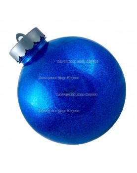 Шар d=15см цвет синий блестящий (1шт/уп)