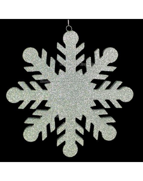 Снежинка для декора РЕЗНАЯ d-30 см (1шт)