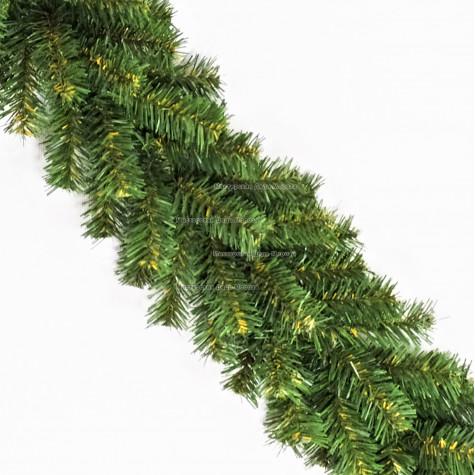 Еловая гирлянда d-30см цвет зеленый длина 2,7м (220 веток)
