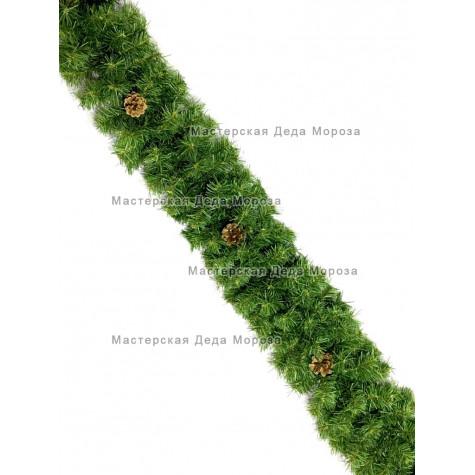 Еловая гирлянда d-25см цвет зеленый длина 2,7м