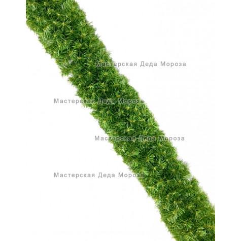 Еловая гирлянда d-28см цвет зеленый длина 2,7м (300 веток)