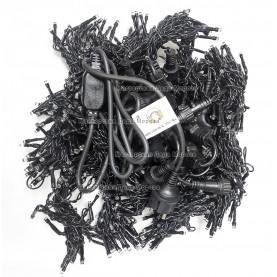 Светодиодный занавес с мерцанием 2*6м цвет теплый белый, провод черный,1000LED IP54